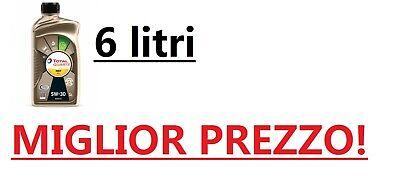 OLIO MOTORE 6 LITRI TOTAL QUARTZ INEO ECS 5W-30 ORIGINALE CITROEN PEUGEOT