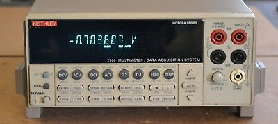 Keithley 2700 Digital Multimeter Data Acquisition Mainframe  Integra Series Good