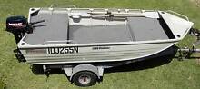 3.99 Stacer Proline tinnie with floor, decks and trailer Bobs Farm Port Stephens Area Preview