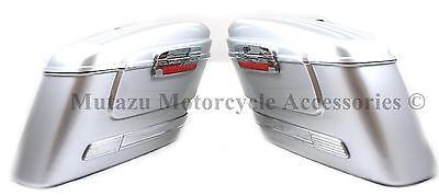 Mutazu HL Silver Universal Hard Saddlebags Fits Most Cruisers Fits Most Cruisers