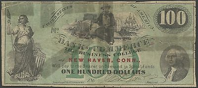 100 The Bank Of Commerce New Haven  Ct College Currency Br9783