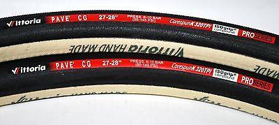 Vittoria CG Pave lll tubular 320 tpi 700 x 27 all black 2 tires (1 pair)