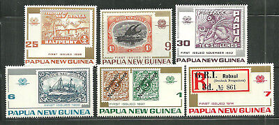 PAPUA NEW GUINEA 389-94 MNH 75TH ANNIVERSARY PAPUA NEW GUINEA POSTAGE STAMPS