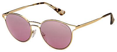 Prada Sunglasses PR 62SS ZVN095 53 Gold Frame | Pink Silver Mirror Lens