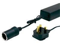 Halfords Mains To 12v Accessory Power Adaptor Converter DC Charger Cost £20 - New - Bargain £10
