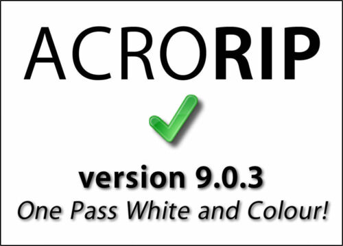 AcroRIP 9.0.3 full version for DTG UV Printer - one pass white & color