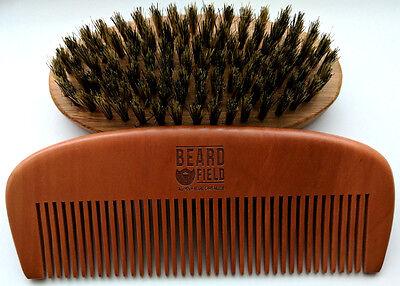 Beard Comb Mustache kit for Men - 100% Natural  ✮ Kick-Ass ✮ 2018 !