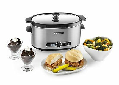 KitchenAid 6-Quart Slow Cooker with Solid Glass Lid - KSC6223SS