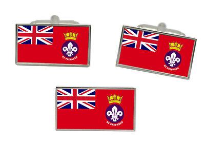 Meer Scouts Flagge Manschettenknöpfe und Krawattennadel Set