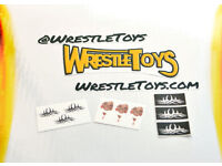 Ricochet Be Fearless TATTOO DECALS for Custom Wrestling Figure Fix Up WWE