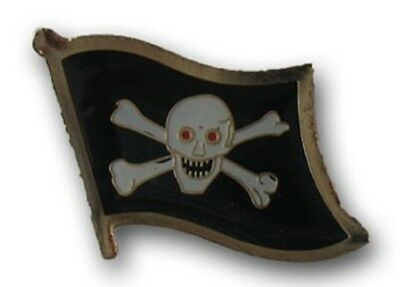 Wholesale Pack of 50 Jolly Roger Red Eyes Pirate Flag Bike Hat Cap lapel Pin