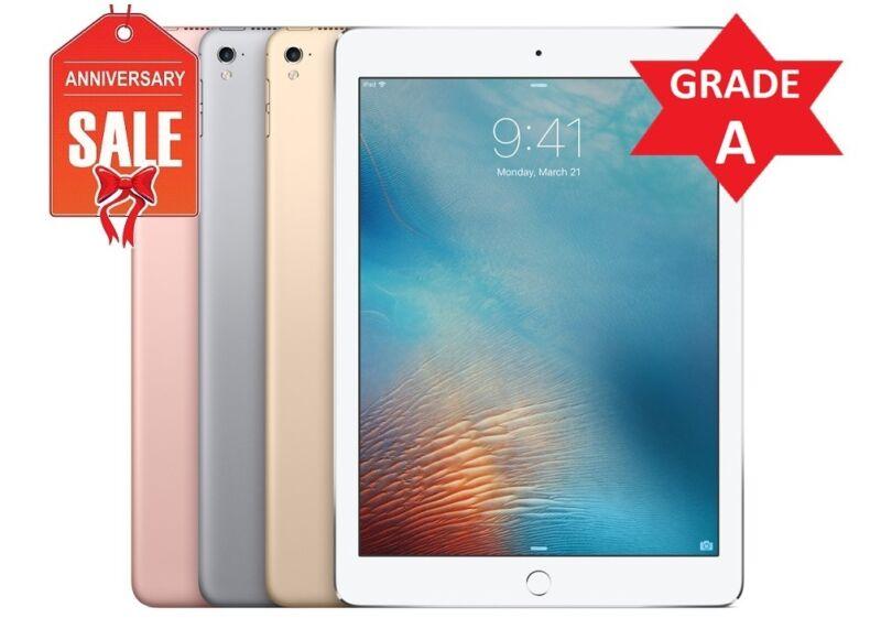 "Apple iPad Pro 32GB, 9.7"" WiFi + Cellular (UNLOCKED) ROSE GOLD GRAY SILVER (R)"