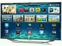 """Samsung 46"""" LED smart 3D CAMERA built HD freeview full Hd 1080p. Hand control voice control."""
