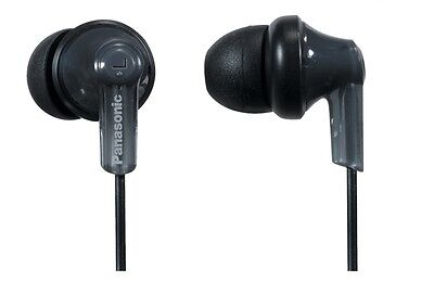 Panasonic RPHJE120K ErgoFit Wired In-Ear Stereo Canal Earbud Headphones, Black