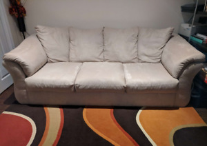 Darcy Sofa Couch - Beige - Moving Sale