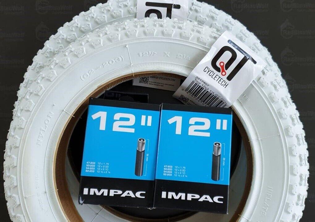 2x Fahrradschlauch 12 Zoll 12 1//2 bis 12x2 1//4 Autoventil Fahrrad Schlauch