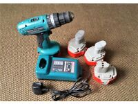 Makita 8280D Combi Cordless Drill 14.4v + Fast Charger + New 3Ah NiMH Battery