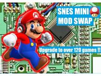 SWAP! Your used SNES Mini for a Brand New one with over 120 titles Hidden Gems !!