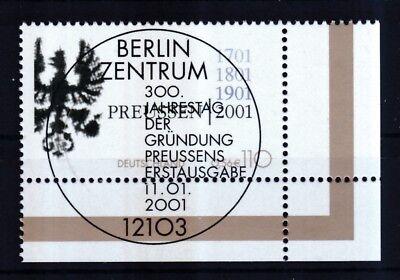 BRD 2001 gestempelt ESST Berlin Eckrand unten rechts MiNr. 2162