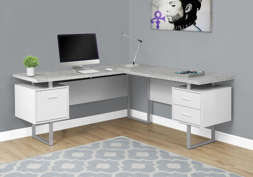 Bureau en coin d ordinateur choix de couleurs desks