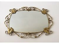 Gorgeous Vintage Filigree Mirror Shabby Chic
