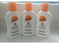 8spf - 3 Malibu sun screen lotions 100ml NEW