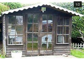 Solid red oak summer house 10ft x 8ft . Dismantled