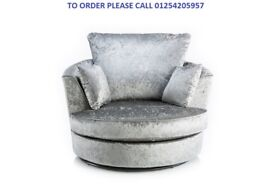 NEW JULIE CRUSH VELVET CORNER SOFA ON SPECIAL OFFER WITH 1 YEA