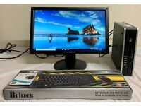 HP Elite Ultra Slim Form Computer Desktop PC & 19 Widescreen