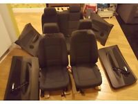 BMW 120i 1 Series E88 Convertible Dark Grey Cloth Seats Interior Door Cards