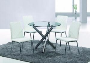 ROUND GLASS DINING SET ON SALE (ID-220)
