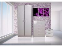 Wardrobe, Drawers and Bedside Cabinet