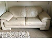 3 & 2 seater dfs cream sofas-good condition