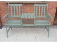 Solid Wood Garden Companion bench