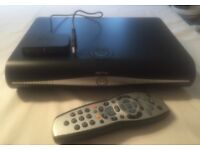Sky plus box, router and remote