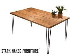 Office Desk Hairpin Legs Reclaimed Wood Rustic Industrial