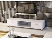 Slim Low Rise Painted Wood Effect TV Stand for TV sizes 32 to 70