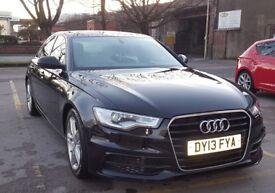 Audi A6 S-Line 2.0 TDI 2013 , FSH + 10 Months MOT + 4 New Tyres, SAT NAV, BLUETOOTH MMI,
