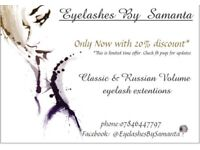 Russian Volume & Classic eyelash extentions in Dartford (da13)