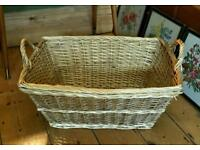 Wicker laundry size basket