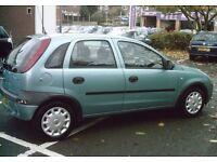 Vauxhall corsa, 1.2 petrol, 5 door hatchback Green *LONG MOT*