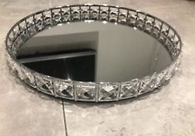 Crystal Silver Tray Home Living Homedeco 26cm