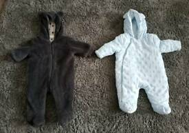Baby boys 0-3 snowsuits