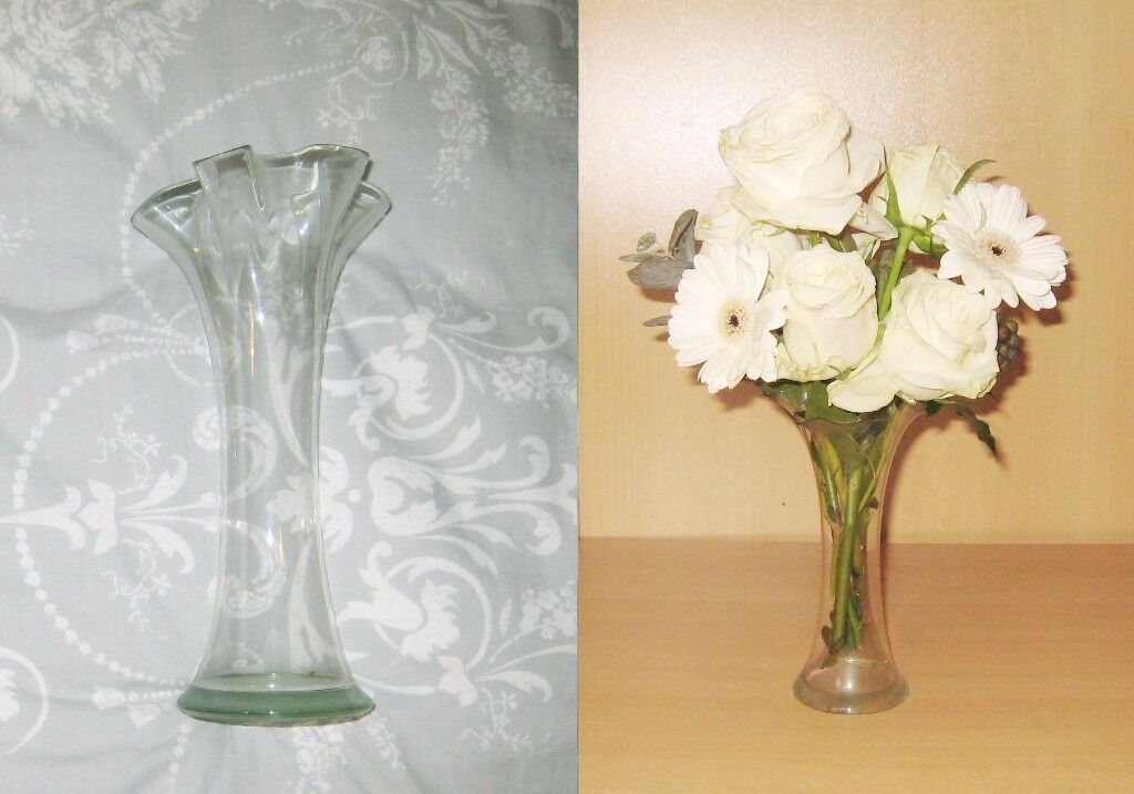 John Lewis Ruffled Artistic Floral Wave Large Small Glass Vases 28
