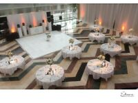 Wedding Decor, Throne Chair, Flowerwall, Backdrop, Lights, Chiavari Hire, Table Cloth, Chair Covers