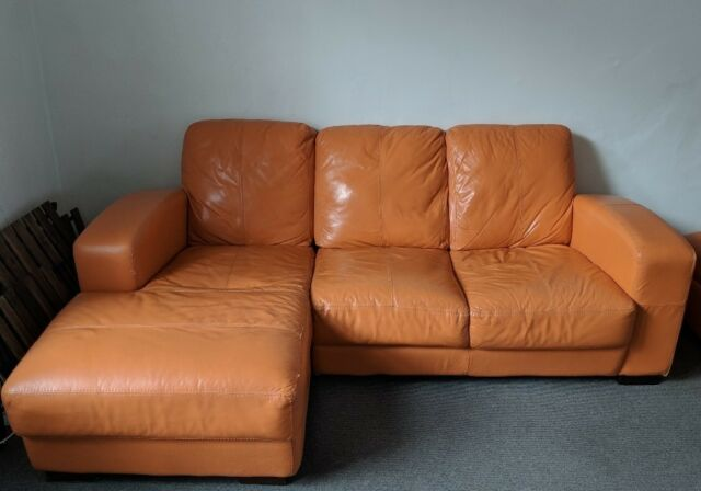 3 Seater Leather Modular Sofa With