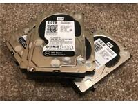 2 x WD Black 4TB performance Internal Hard Drives (WD4003FZEX) 3.5 inch . Grade A condition.