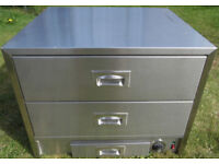 Commercial Stainless Steel 3 drawer Food Warming Drawers