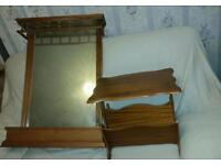 Display cabinet , mirror , magazine table