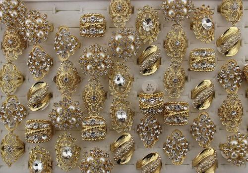 New Wholesale Mixed Lots 35pcs Charm Jewelry Clear Rhinestone Lady